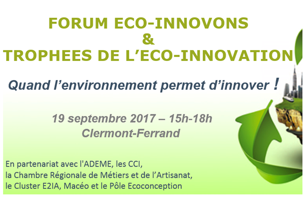 forum eco innovons quand l 39 environnement permet d 39 innover clermont ferrand je cr e dans. Black Bedroom Furniture Sets. Home Design Ideas
